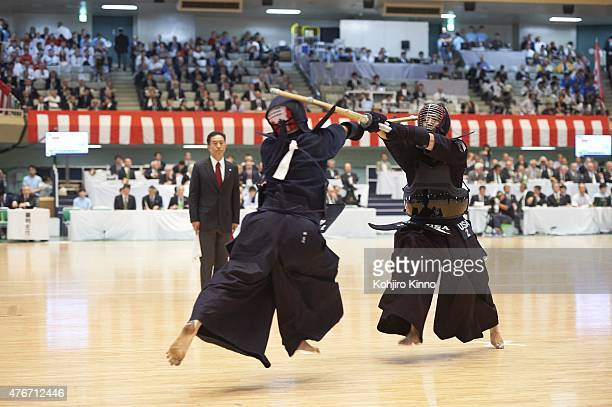 16th World Kendo Championship USA Brandon Harada in action during Men's Individual match at Nippon Budokan Tokyo Japan 5/31/2015 CREDIT Kohjiro Kinno