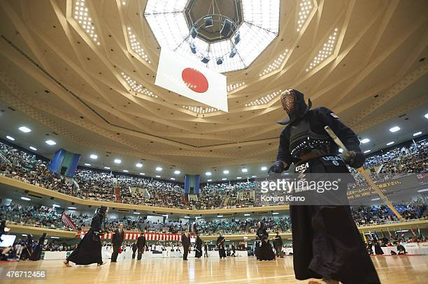 16th World Kendo Championship View of USA Jason Brown after match at Nippon Budokan Tokyo Japan 5/31/2015 CREDIT Kohjiro Kinno