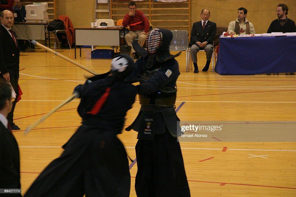 Kendo championship in Madrid : News Photo
