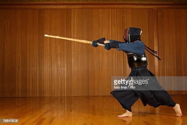 Kendo Fencer Practicing