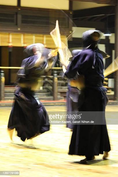 Kendo practicing