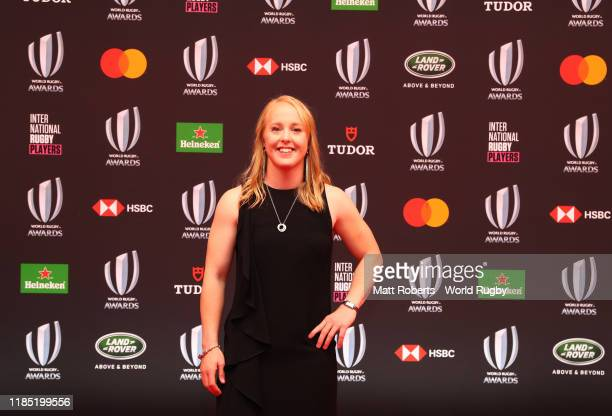 Kendra Cocksedge of New Zealand Women poses for a photo during the World Rugby Awards on November 03 2019 in Tokyo Japan