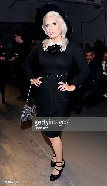 Kendra Devotion attends the Erin Barr fall 2013 fashion show during MercedesBenz Fashion Week at Pier 59 on February 7 2013 in New York City