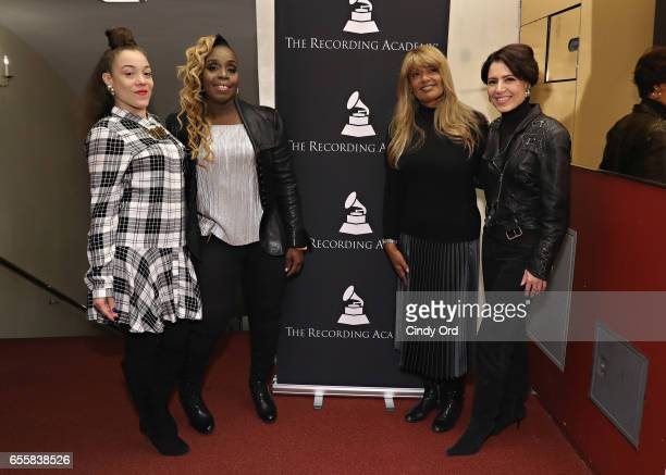 Kendra Foster Andrea Martin Tracey J Jordan and Emily King attend the GRAMMY Pro Songwriters Summit Women Making Music at The Apollo Theater on March...