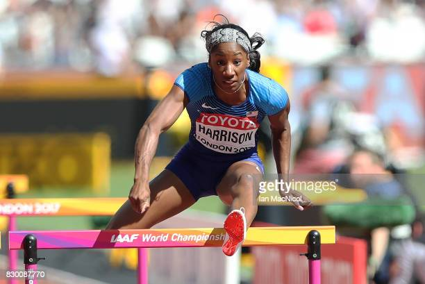 Kendra Harrison of United States competes in the Women's 100m Hurdles heats during day eight of the 16th IAAF World Athletics Championships London...