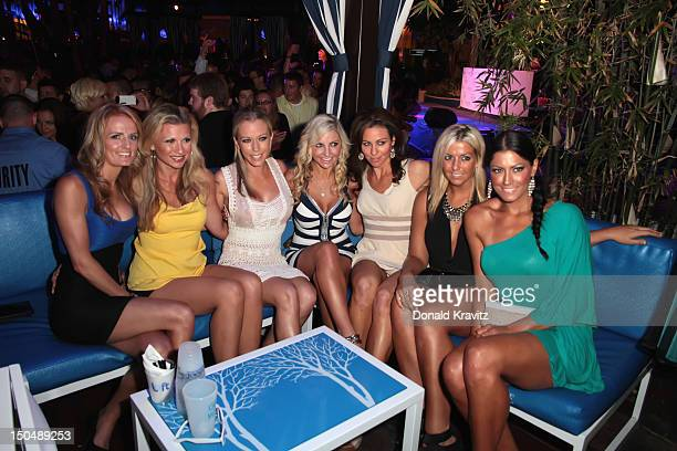 Kendra poses with her Close friends LR Angela PerfettoValerie Burns Susan Celek Julie Dorenbos Kendra Wilkinson Bethany Coffee and Amber Bocco as she...