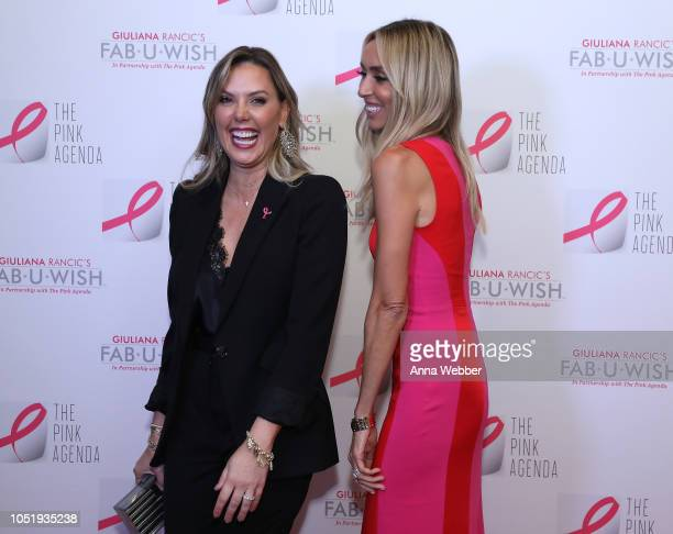 Kendra Scott and Giuliana Rancic attend The Pink Agenda's Annual Gala at Tribeca Rooftop on October 11 2018 in New York City