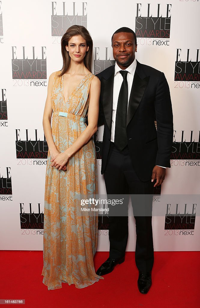 Kendra Spears and presenter Chris Tucker pose in the press room at the Elle Style Awards at The Savoy Hotel on February 11, 2013 in London, England.