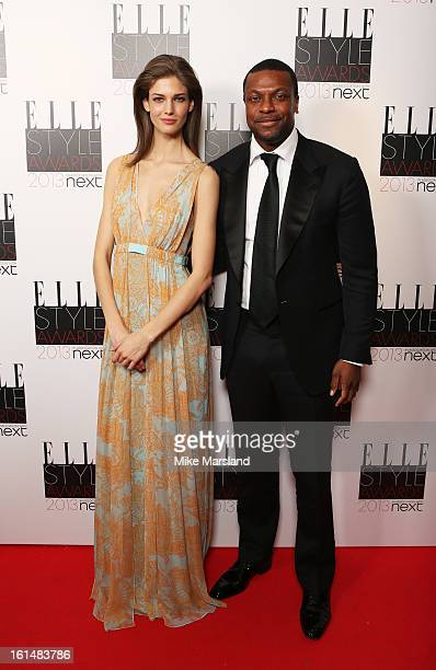 Kendra Spears and presenter Chris Tucker pose in the press room at the Elle Style Awards at The Savoy Hotel on February 11 2013 in London England