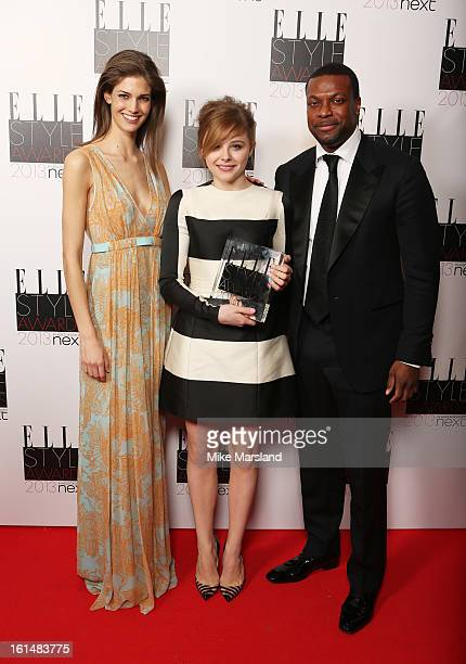 Kendra Spears Next Future Icon winner Chloe Moretz and presenter Chris Tucker pose in the press room at the Elle Style Awards at The Savoy Hotel on...
