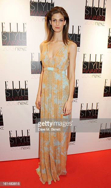 Kendra Spears poses in the press room at the Elle Style Awards at The Savoy Hotel on February 11 2013 in London England