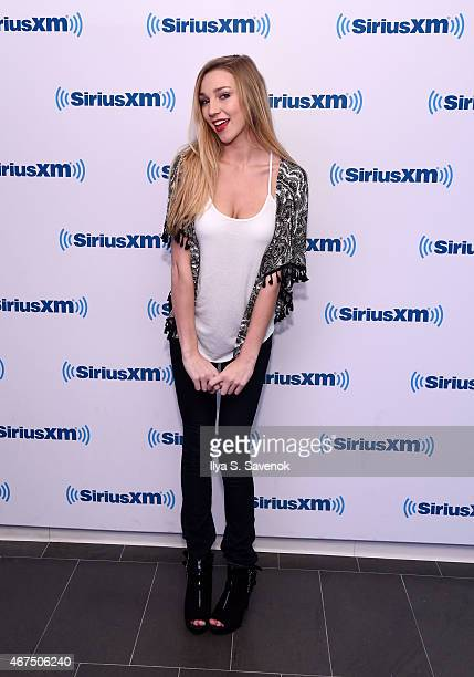 Kendra Sunderland visits the SiriusXM Studios on March 25 2015 in New York City