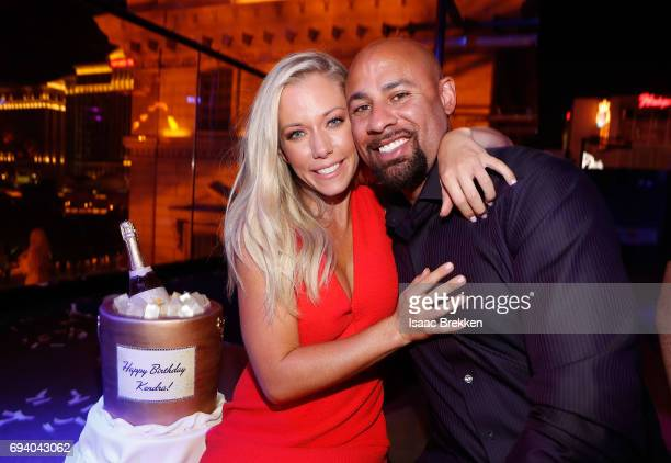 Kendra Wilkinson and Hank Baskett celebrates Wilkinson's birthday during the premiere celebration for WE tv's Kendra on Top and Sex Tips for Straight...
