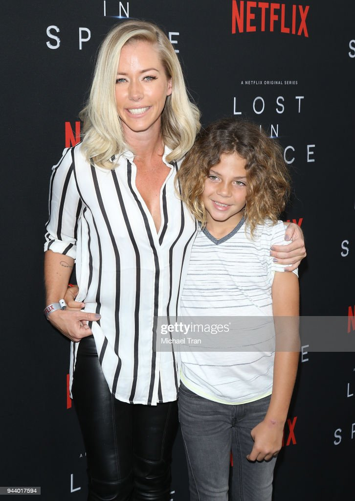 Kendra Wilkinson and Henry Randall Baskett IV arrive to the Los Angeles premiere of Netflix's 'Lost In Space' Season 1 held at The Cinerama Dome on April 9, 2018 in Los Angeles, California.
