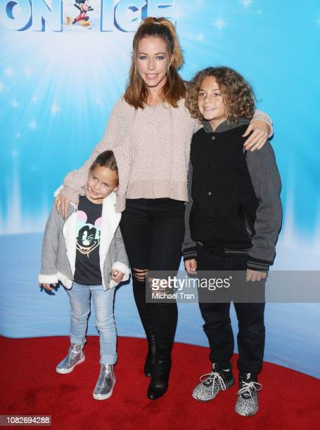 Kendra Wilkinson and her children attend Disney On Ice Presents 'Dare To Dream' held at Staples Center on December 14 2018 in Los Angeles California
