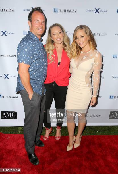 Kendra Wilkinson and LA Travel Magazine owners Michael Dunn and Jennifer McLaughlin attend Los Angeles Travel Magazine's Endless Summer Issue Release...