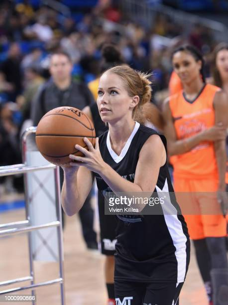Kendra Wilkinson attends 50K Charity Challenge Celebrity Basketball Game at UCLA's Pauley Pavilion on July 17 2018 in Westwood California
