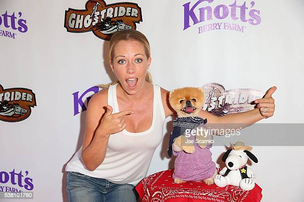 Kendra Wilkinson attends the GhostRider Reopening at Knott's Berry Farm on June 4 2016 in Buena Park California