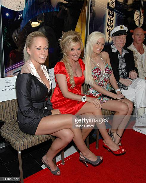 Kendra Wilkinson Bridget Marquardt Holly Madison Hugh Hefner and Johnny Brenden