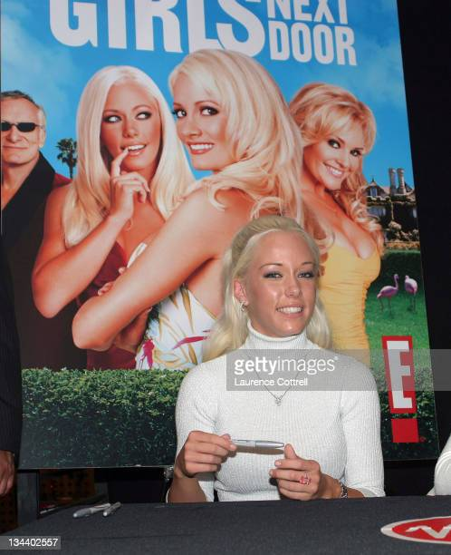 Kendra Wilkinson during Celebration of Playboy's Girls Next Door November Issue October 18 2005 at Virgin Megastore in Hollywood California United...