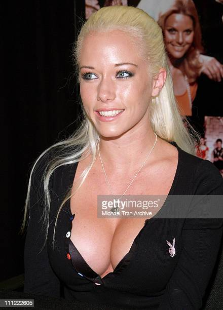 Kendra Wilkinson during The Girls Next Door InStore DVD and Magazine Autograph Signing at Tower Records on Sunset in West Hollywood California United...