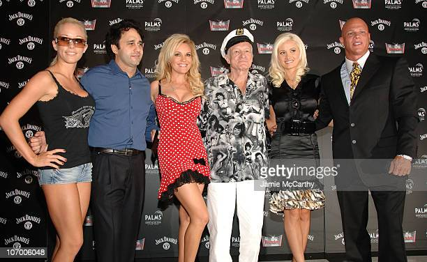Kendra Wilkinson George Maloof Bridget Marquardt Hugh Hefner Holly Madison and Johnny Brenden
