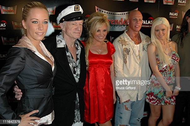 Kendra Wilkinson Hugh Hefner Bridget Marquardt Johnny Brenden and Holly Madison