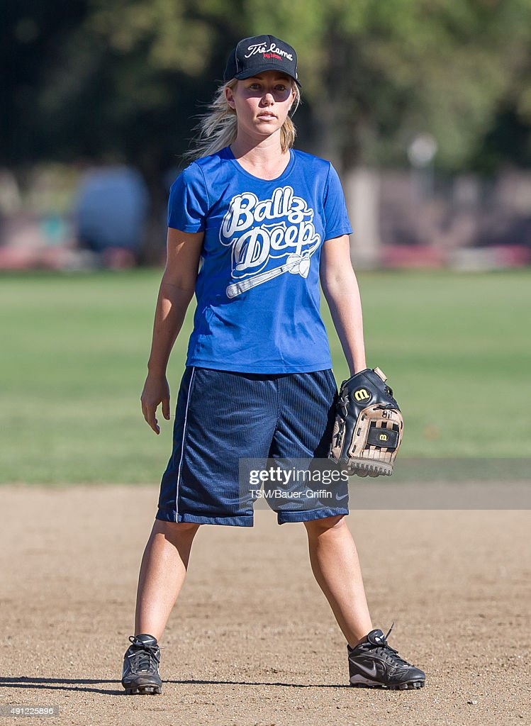 Kendra Wilkinson is seen on October 03, 2015 in Los Angeles, California.