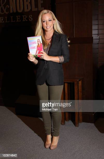 """Kendra Wilkinson signs copies of her new book """"Sliding Into Home"""" held at Barnes & Noble bookstore at The Grove on July 13, 2010 in Los Angeles,..."""