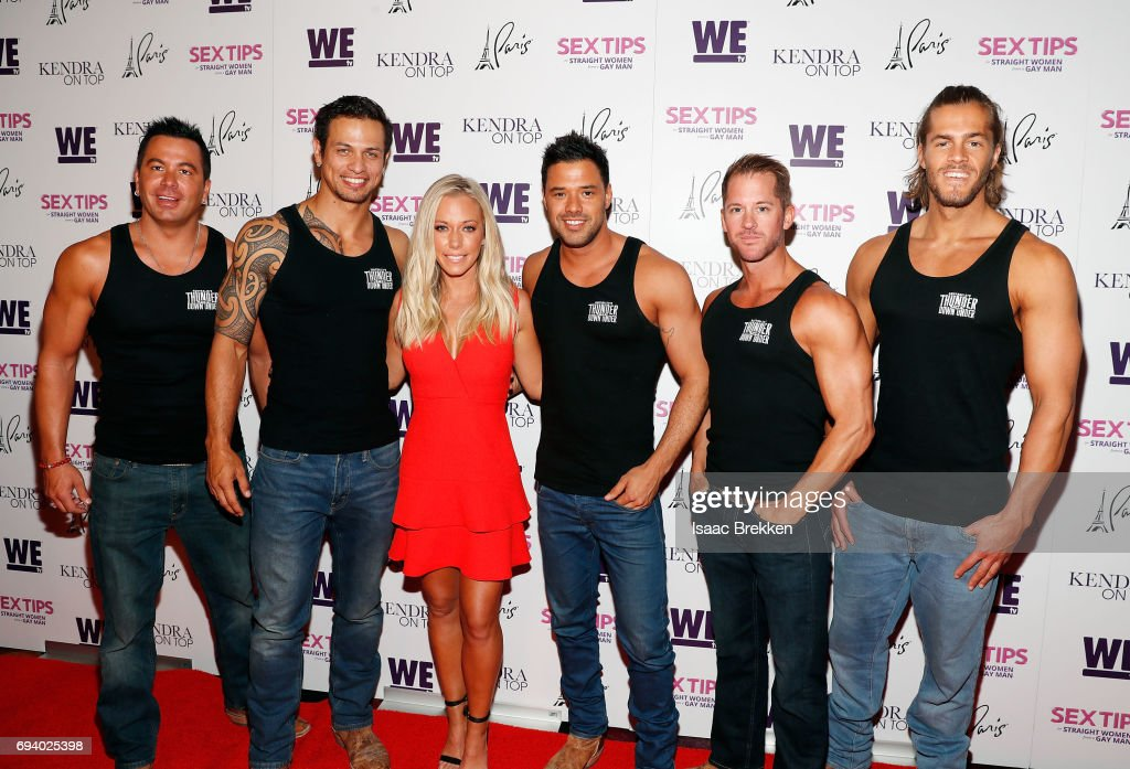 Kendra Wilkinson, with cast members from 'Thunder Down Under' arrives at  the premiere