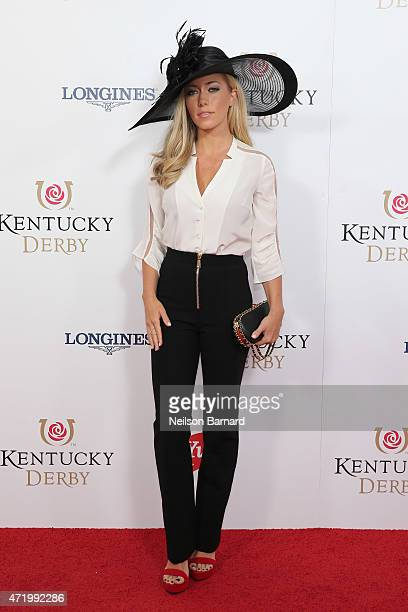 Kendra WilkinsonBaskett attends the 141st Kentucky Derby at Churchill Downs on May 2 2015 in Louisville Kentucky
