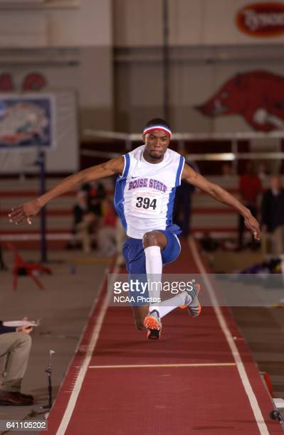 Kendrick Johnson of Boise State in action in the triple jump during the NCAA Photos via Getty Images Division 1 Men's Indoor Track and Field...
