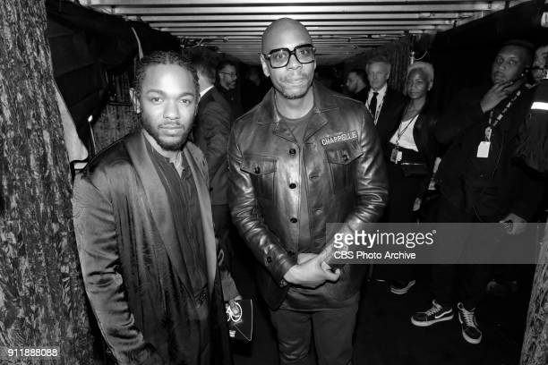 Kendrick Lamar and Dave Chappelle backstage at THE 60TH ANNUAL GRAMMY AWARDS broadcast live on both coasts from New York City's Madison Square Garden...