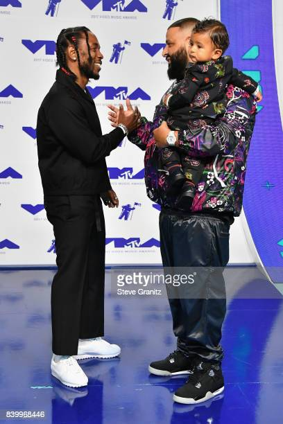 Kendrick Lamar and DJ Khaled attend the 2017 MTV Video Music Awards at The Forum on August 27 2017 in Inglewood California