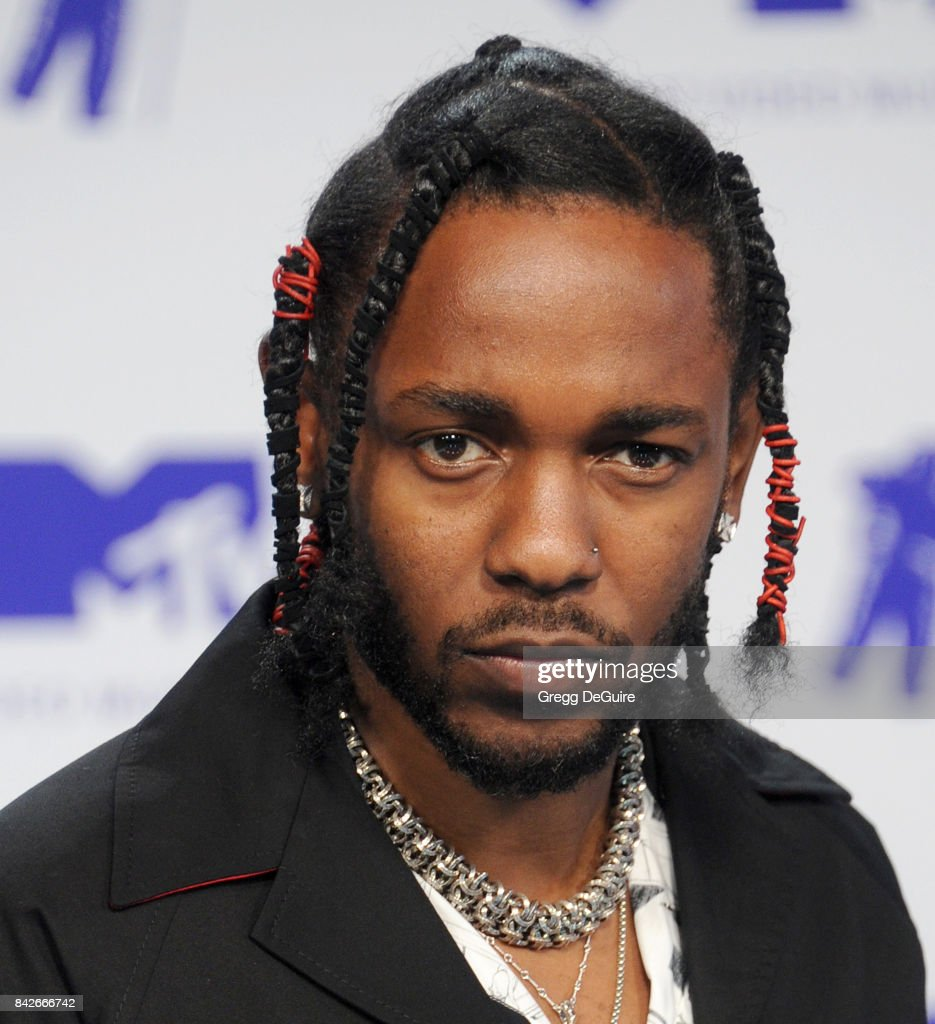Kendrick Lamar arrives at the 2017 MTV Video Music Awards at The Forum on August 27, 2017 in Inglewood, California.