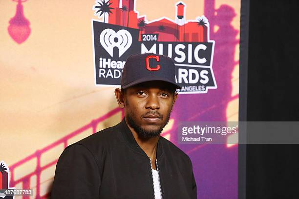 Kendrick Lamar attends the 2014 iHeartRadio Music Awards press room held at The Shrine Auditorium on May 1 2014 in Los Angeles California