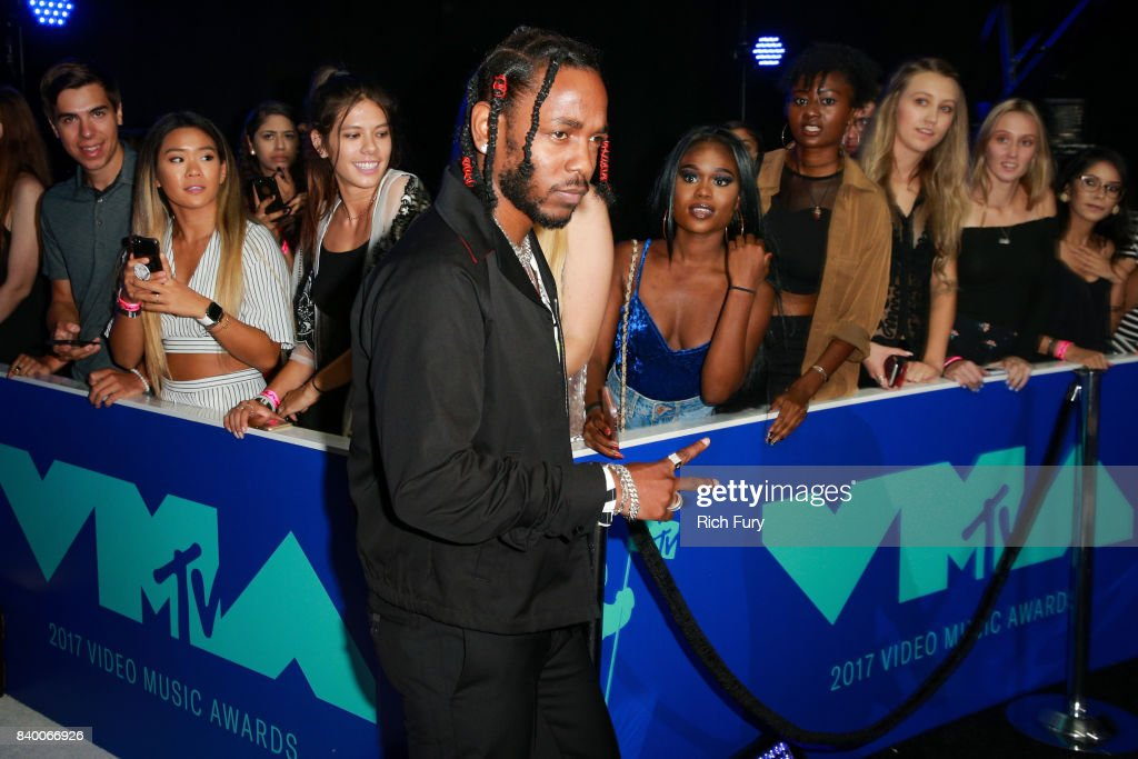 Kendrick Lamar attends the 2017 MTV Video Music Awards at The Forum on August 27, 2017 in Inglewood, California.