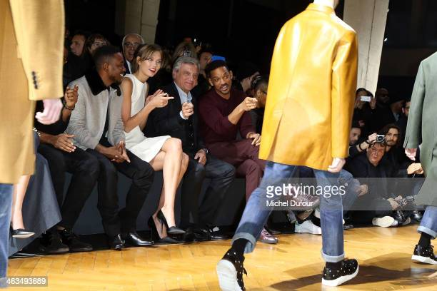 Kendrick Lamar Karlie Kloss Sidney Toledano and Will Smith attend the Dior Homme Menswear Fall/Winter 20142015 show as part of Paris Fashion Week on...