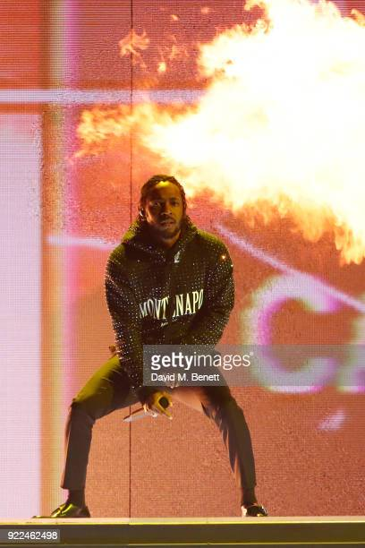 AWARDS 2018 *** Kendrick Lamar peforms at The BRIT Awards 2018 held at The O2 Arena on February 21 2018 in London England