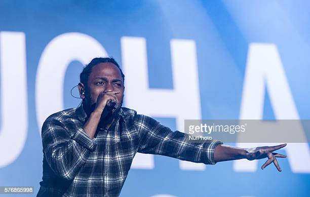 Kendrick Lamar performs at day 4 of the Benicassim International Festival in Benicassim on July 18 2016