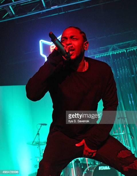 Kendrick Lamar performs at Terminal 5 on November 2 2015 in New York City