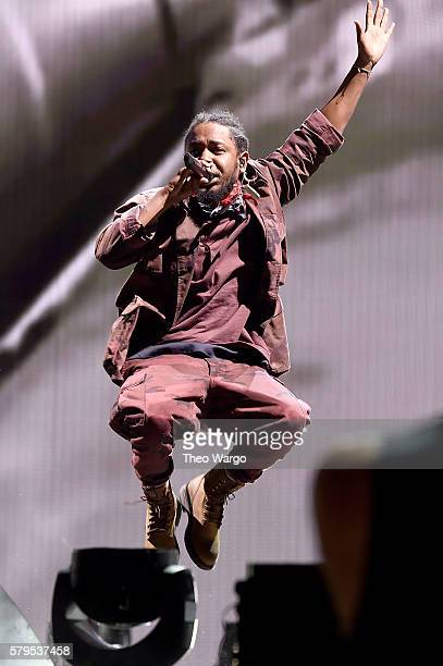 Kendrick Lamar performs at the 2016 Panorama NYC at Randall's Island on July 22 2016 in New York City