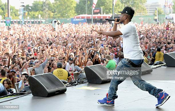 Kendrick Lamar performs during the 2013 Budweiser Made In America Festival at Benjamin Franklin Parkway on September 1, 2013 in Philadelphia,...