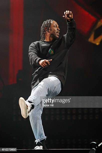 Kendrick Lamar performs during the 2016 Global Citizen Festival at Central Park on September 24 2016 in New York City