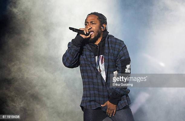 Kendrick Lamar performs during the Austin City Limits Music Festival at Zilker Park on October 1 2016 in Austin Texas