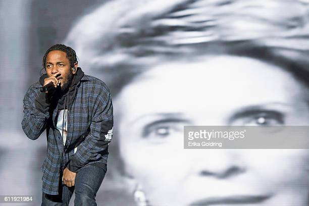 Kendrick Lamar performs during the Austin City Limits Music Festival at Zilker Park on October 1, 2016 in Austin, Texas.