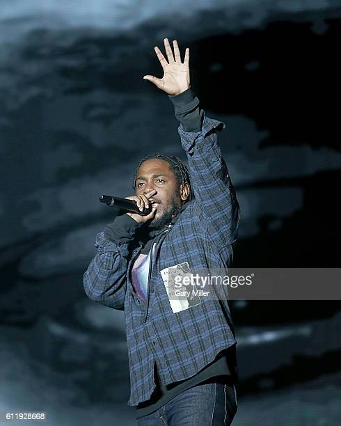 Kendrick Lamar performs in concert during the Austin City Limits Music Festival at Zilker Park on October 01, 2016 in Austin, Texas.