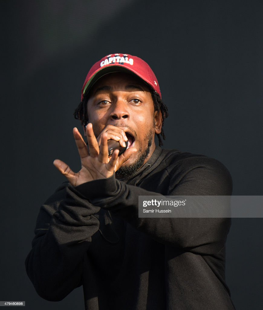 Kendrick Lamar performs on day 2 of the New Look Wireless Festival at Finsbury Park on July 4, 2015 in London, England.