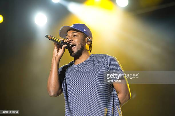 Kendrick Lamar performs on stage during the first day of Cruilla Festival at Parc Del Forum on July 10, 2015 in Barcelona, Spain.