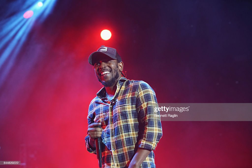 Kendrick Lamar performs onstage at 2016 ESSENCE Festival Presented by Coca Cola at the Louisiana Superdome on July 3, 2016 in New Orleans, Louisiana.